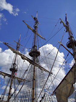 Crow's Nest, Sailing Ship, You Have, Rigging, Ship