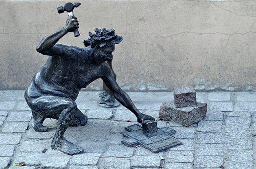 Mason, Walkway, Sort It Out, Pavers, Sculpture