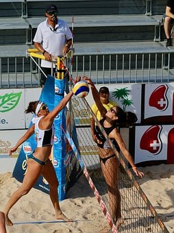 Beach Volleyball, Competition, Sand, Referee, Sport