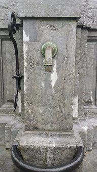 Stone, Pump, Belgium, Antwerp, Water, Merksem, Taps