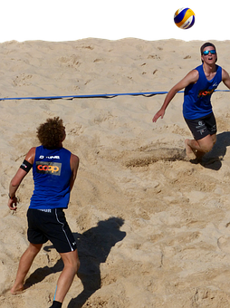Beach Volleyball, Volleyball, Players, Sand