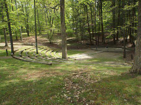Amphitheater, Woods, Stage, Park, Tennessee