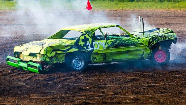 Derby, Demolition, Auto, Automobile, Vehicle, Wreck