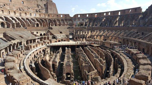 Coliseum, Historic, Italy, Ruins, Landmark, Acient