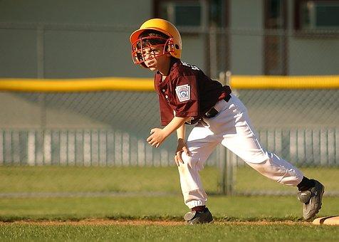 Baseball, Runner, Little League, Young, Athlete, Game
