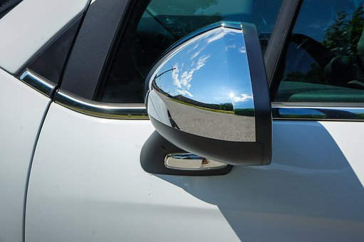 Rear Mirror, Chrome, Auto, Mirror, Side Mirror