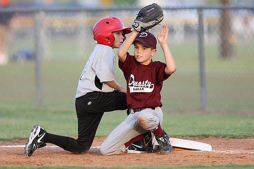 Baseball, Players, Action, Second Base, Helmet, Glove