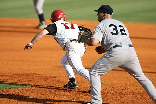 Baseball, Stealing, Stealing Second, Runner, First Base