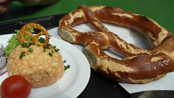 Beer Garden, Bavarian Snack, Brezn, Breze, Obazda