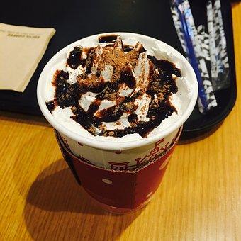 Coffee, Cafe, Dessert, Caffeine, Whipped Cream