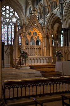 High Altar, Lincoln Cathedral, Carved Stone, Screen