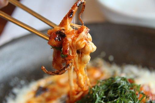 Cooking Octopus, Octopus Stir, Cheese Dish