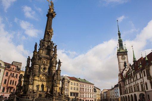 Olomouc, Square, Czech Republic, City, Monument