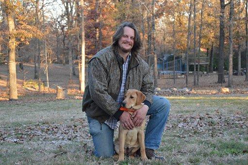 Man, Dog, Portrait, Pet, Animal, Male, People, Adult
