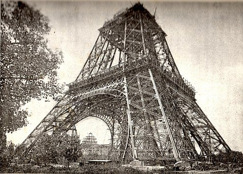 Eiffel Tower Under Construction, July 1888, Paris