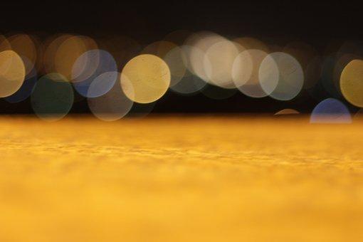Flat, Surface, Bokeh, Night, Blur, Lens Blur