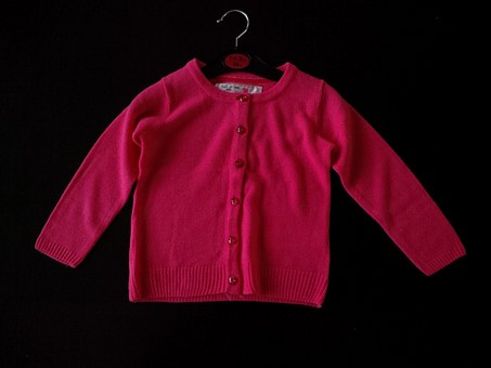 Girls Jumper, Pink, Cardigan