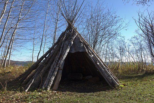 Teepee, Indian, Birch Bark, American, Native, Culture