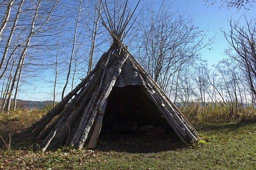 Teepee, Indian, Birch Bark, American, Native, Culture