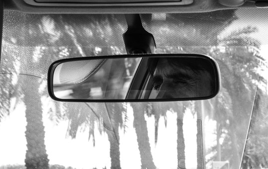 Rear Mirror, Inside Mirror, Auto, Prudence, Taxi, View