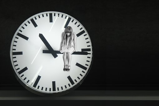 Clock, Hands, Time, Sad, Depressed, Looking Down
