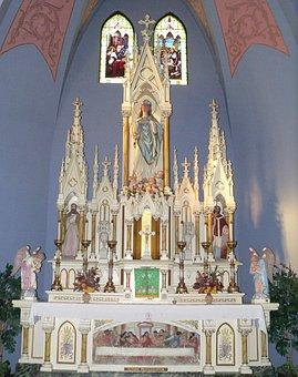 Altar, St, Mary, Church, Dwight, Nebraska, High