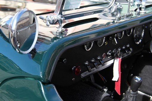 Rear Mirror, Auto, Mirror, Speedo, Speedometer, Metal