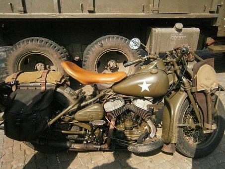 Motor, Army, Military, Second World War, War, Soldier