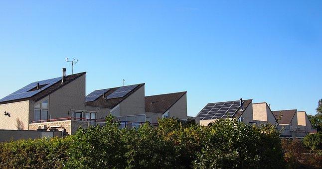 Netherlands, Almere, Solar Panels, Neighbourhood, Dutch
