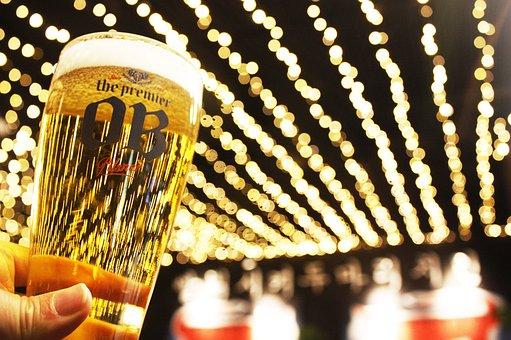 Beer, Stein, Lighting, Lights, Neon, Night View, Night