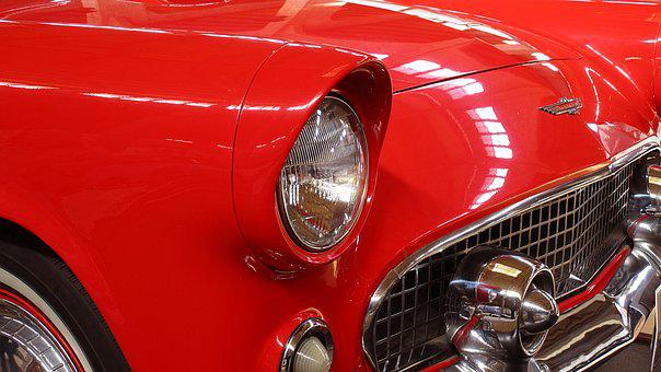 Auto, Automobile, Vehicle, Car, Red Car, Old