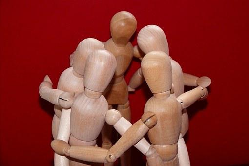 Articulated Male, Meeting, Together, Group, Personal