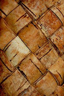 Birch Bark, Texture, Light, Plenёnka, Basket, Brown
