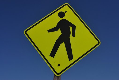 Warning, Crossing, Safety, Public, Sign, Caution