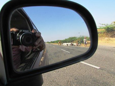 Rear View Mirror, Car, Photography, Camera, Reflection