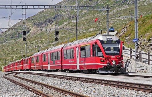 Bernina Railway, Regional Train, Pass, Ospizio Bernina