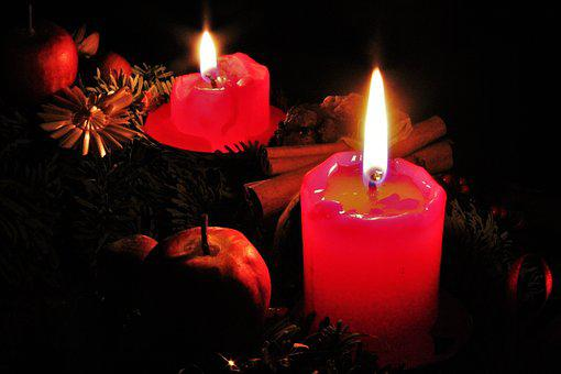 Second Advent, Red Candles, Candlelight