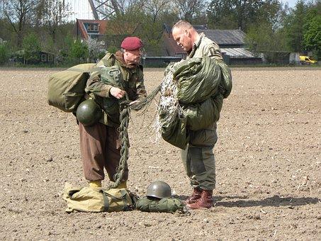 Parachutist, Military, Second World War, Army, Soldier