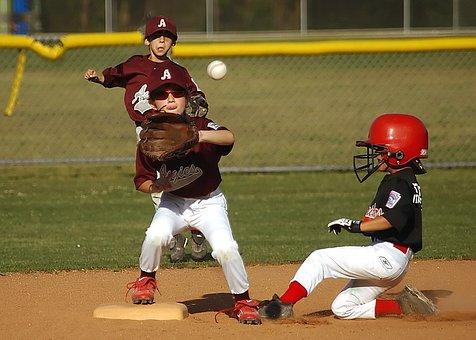 Baseball, Little League, Runner, Slide, Sport, Player