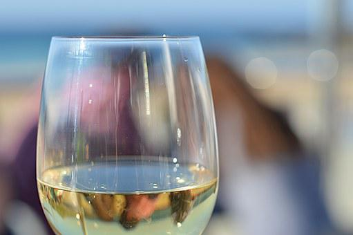 Wine, Glass, Sun, Beach, Sand, Carbis Bay, St Ives