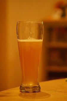 Beer, Wheat Beer, Beer Glass, Drinking Beer, Thirst