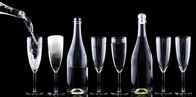 Champagner, Toasting, New Year's Eve, Drink, Crystal
