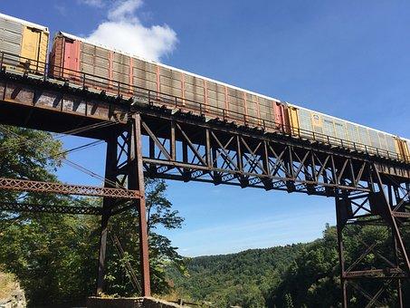 Train, Bridge, Transportation, Rail, Railroad, Track