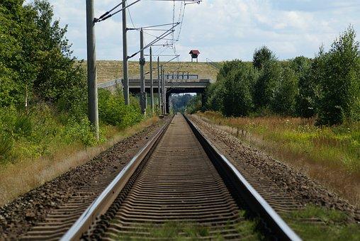 Train, Railway, Seemed, Channel, Elbe Side Canal
