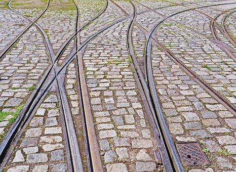 Tram, Rails, Gleise, Crossings, Depot Entrance