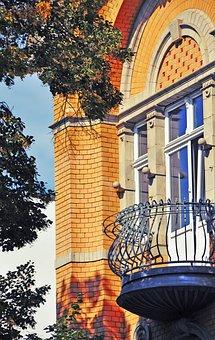 Balcony, Factory Owner's Villa, Villa, Forestry