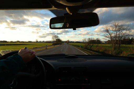 Road, Exit, Drive, Windshield, Trip, Tour, More, Driver