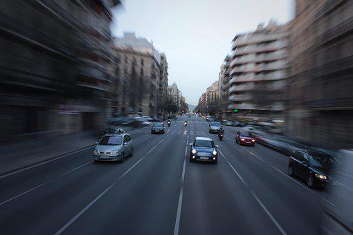 Barcelona, Zoom, Zoom Blur, Road, City, Tourism, Travel