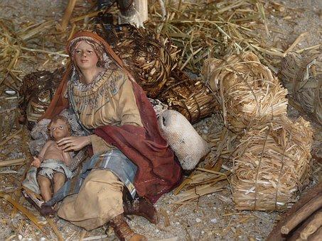 Christmas, Nativity Scene, Advent, Father Christmas