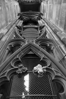 Cathedral, Gothic, Historical, Architecture